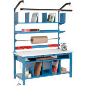 Complete Electronic Packaging Workbench ESD Safety Edge - 72 x 30