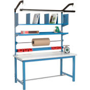 """Global Industrial™ Packing Workbench W/Riser Kit, Laminate Safety Edge, 72""""W x 30""""D"""