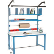 """Global Industrial™ Packing Workbench W/Riser Kit, ESD Square Edge, 60""""W x 30""""D"""