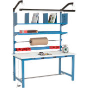 Electronic Packaging Workbench ESD Safety Edge - 72 x 30 with Riser Kit