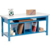 "Global Industrial™ Packing Workbench W/Lower Shelf Kit, Laminate Safety Edge, 60""W x 30""D"