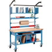Complet mobile Packing Workbench érable boucher bloc carré bord-72 x 30