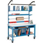 Complet mobile Packing Workbench ESD bord de sécurité-72 x 30