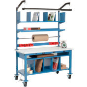 Complete Mobile Electronic Packaging Workbench ESD Safety Edge - 72 x 30