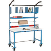 Mobile Electronic Packaging Workbench ESD Safety Edge - 72 x 30 with Riser Kit