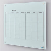 Glass Calendar Whiteboard - 48 x 36 - Magnetic - White