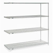 "Nexelate Wire Shelving Add-On, 72""W X 36""D X 74""H"