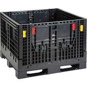 Plastic Folding Bulk Shipping Container BC4844-34  2000 lb. Capacity 48 x 44-1/2 x 34