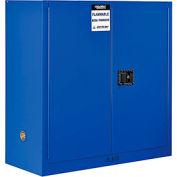 "Global™ Acid Corrosive Cabinet - 30 Gallon - Manual Close 43""W x 18""D x 44""H"