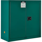 "Global™ Pesticide Storage Cabinet - 30 Gallon - Manual Close 43""W x 18""D x 44""H"
