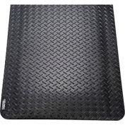 "Diamond Plate Ergonomic Mat 15/16"" Thick 24""x36"" Black"
