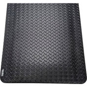"Diamond Plate Ergonomic Mat 15/16"" Thick 48""x72"" Black"