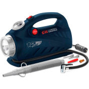 """Campbell Hausfeld AF010800, 2-in-1 Inflator with Safety Light, 12VDC, 150 PSI, 20"""" Hose"""