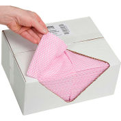 """Global Industrial™ Food Service Towels, Pink, 13"""" x 20"""", 200/Case"""