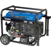 Global Industrial™, 6500 Watts, Portable Generator, Gasoline, Electric/Recoil Start, 120/240V