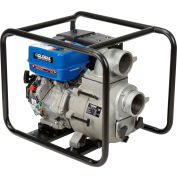 """Global Industrial® GTP100A Portable Gasoline Trash Pump 4"""" Intake/Outlet 14HP"""