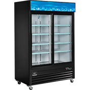 Nexel® présentoir réfrigérateur, porte 2, 53,1% '' Wx31,9'' Dx84,4'' H