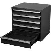 "Global™ Modular Drawer Cabinet, 5 Drawers, w/Lock w/o Dividers 30""Wx27""Dx29-1/2""H Black"