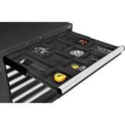 "Divider Kit for 3""H Drawer of Global™ Modular Drawer Cabinet 30""Wx27""D, Black"