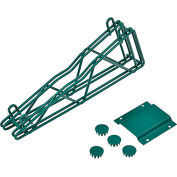 "12"" Double Arm Fixed Shelf Bracket - Poly-Green®"