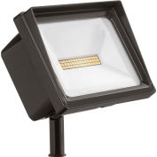 QTE Lithonia LED P2 40K 120 THK DDB LED Flood, 40W, 120V, 4000 Lumens, 4000K, Knuckle, Bronze foncé