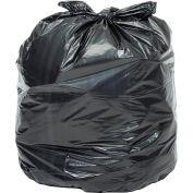 Global Industrial™ Light Duty Black Trash Bags - 55-60 Gal, 0,57 Mil, 200 Sacs/Case