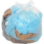 Global Industrial™ 2X Heavy Duty Clear Trash Bags - 55-60 Gal, 1,4 Mil, 100 Bags/Case