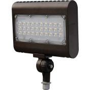 Commercial LED CLF4-505KNBR LED Flood Light, 50W, 6000 Lumens, 5000K, Knuckle Mount, Bronze, DLC 4.4