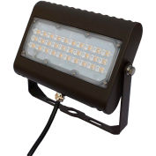 CLF4-505YKBR de commercial LED LEDs, 50W, 6000 Lumens, 5000K, Yoke Mount, Bronze, DLC 4,4
