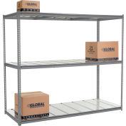 "High Capacity Starter Rack 96""W x 48""D x 84""H With 3 Level Steel Deck 1500lb Cap Per Shelf - Gray"