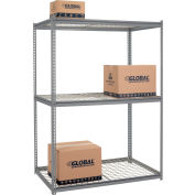 High Capacity Starter Rack 60x24x84 Avec 3 niveaux Wire Deck 1300lb Cap Per Shelf - Gray