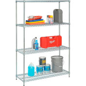 "Nexel® Best Value Wire Shelving Unit 48""W X 18""D X 74""H (600 lb shelf cap) - Chrome"