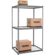 "High Capacity Starter Rack 48""W x 36""D x 96""H Avec 3 niveaux Wire Deck 1500lb Cap Per Shelf - Gray"
