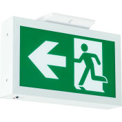 Hubbell-Compass RMEUWE-SD Running Man LED Exit Sign w/ Battery Back-Up - Self-Diagnostics, Green