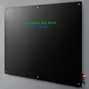 "Magnetic Glass Dry Erase Board - 72 x 48"" - Black"