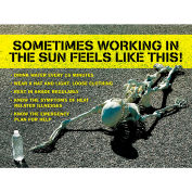 """Accuform SP125178L Safety Poster, SOMETIMES WORKING IN THE SUN FEELS LIKE, 17""""H x 22""""W, Laminated"""