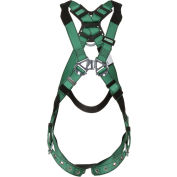 MSA 10196642 V-Form™ Harness, Standard, Back D-Ring, Tongue Buckle Leg Straps