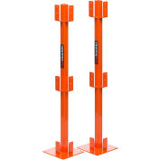 Ideal Warehouse® ProGuard 70-8010 Temporary Guardrail Post Kit (2 Per Box)