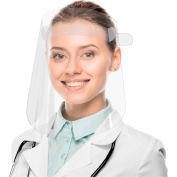 "TrippNT Disposable Full Face Shield, No Foam, 9"" x 7"" Window, 50/Case"