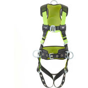 Miller® H500 Harness Construction Comfort, Tongue Buckle, Side D Ring, L/XL
