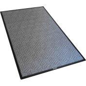 Tapis d™'entrée grattoir/essuie-glace industriel global, 3/8» d'épaisseur, 3'Wx5'L, gris