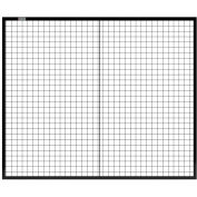 Global Industrial™ Machine Wire Guard Panel, 6'W, Black