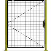 Global Industrial™ Machine Wire Guard Door, 4'W, Black