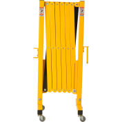 Global Industrial™ Steel Portable Barricade Gate With Casters