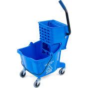 Carlisle Commercial Mop Bucket with Side-Press Wringer 26 Quart, Blue - 3690814