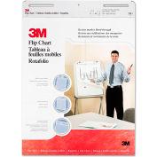 "3M Prof Flip Chart Pad 570, 25"" x 30"", White, 2/Carton"