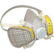 3M™ 5203 Half Facepiece Disposable Respirator Assembly, OV/AC, Medium, 1 Each
