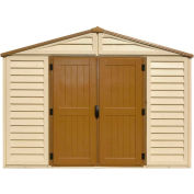 DuraMax WoodBridge Vinyl Storage Shed 40224 10-11/16'W x 10-11/16'D x 7-5/8'H, Includes Foundation