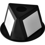 Global Industrial™ Inventory Control Cone W/ Dry Erase Decals, Black