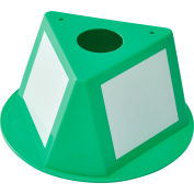 Global Industrial™ Inventory Control Cone W/ Dry Erase Decals, Green